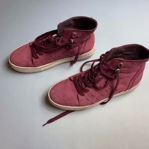 K-SWISS Plum/Mauve Leather High-Top Sneakers 8/8.5